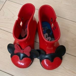 VGUC Mini Melissa rain boots